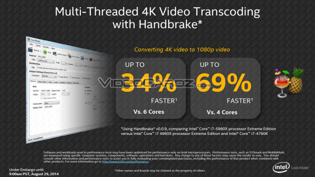 Intel Haswell-E  Faster Video Transcoding