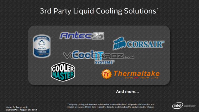 Intel Haswell-E Liquid Cooling Solutions