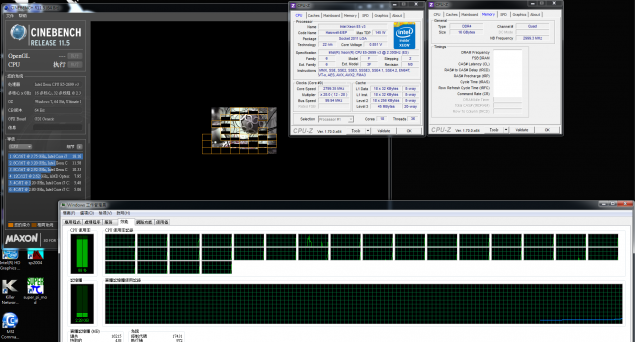 Intel Xeon E5-2699 V3 Cinebench R11.5