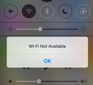 WiFi Not Available ios