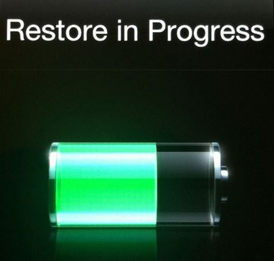 restore iPhone iPad