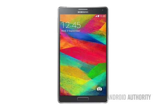 galaxy note 4 front render