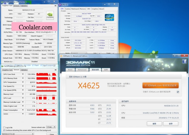 NVIDIA GeForce GTX 870 3DMark 11 Extreme