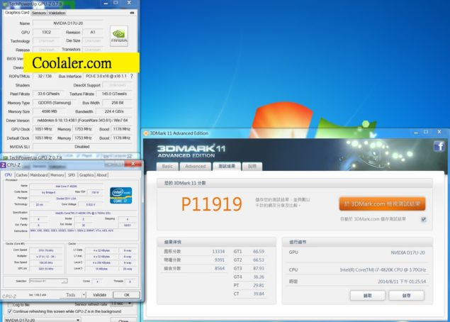 NVIDIA GeForce GTX 870 3DMark 11 Performance