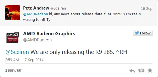 AMD tweet