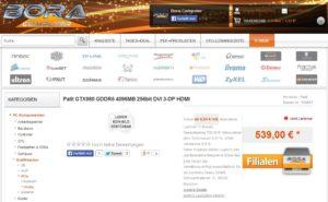 GTX 980 listing