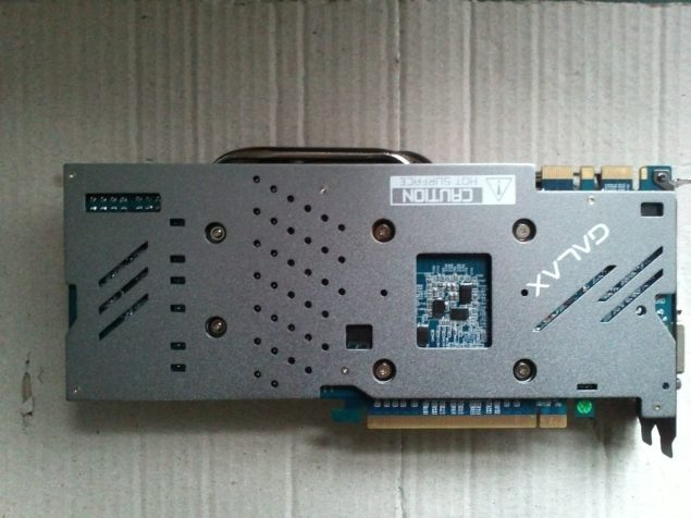 Galaxy GeForce GTX 970 GC 4 GB GDDR5 Backplate