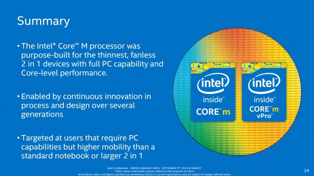 Intel Core M Summary