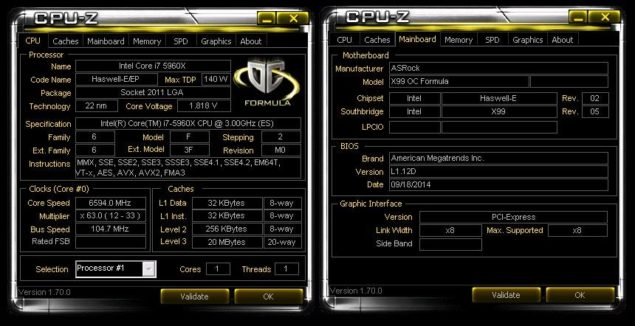 Intel Core i7-5960X 6.6 GHz World Record