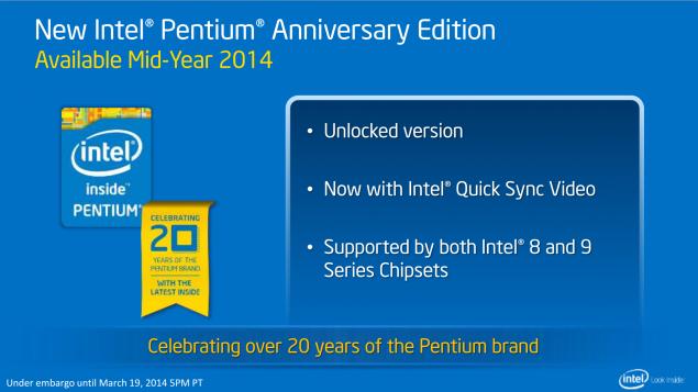 Intel Pentium G3258 Announcement