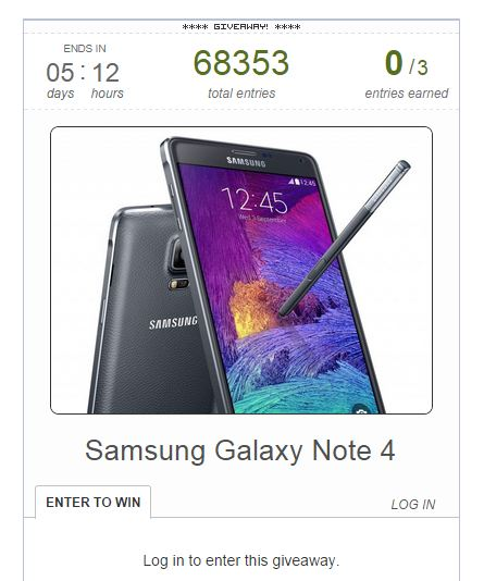 galaxy note 4 giveaway