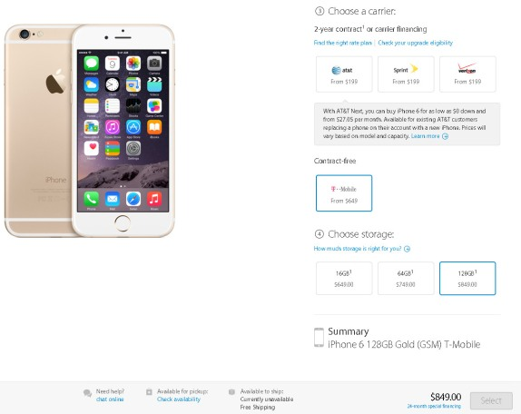 how much does it cost to unlock an iphone unlocked iphone 6 price starts at 649 for 16gb model 8665