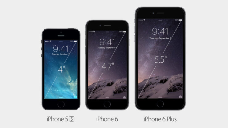 iPhone 6 vs iPhone 6 Plus vs iPhone 5s