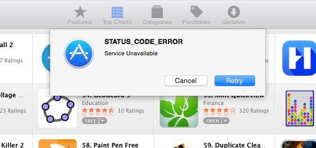 app store errors
