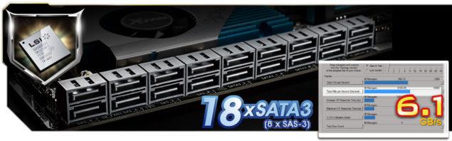 LSI SAS 3008 Controller Chip 18 SATA3 (8 SAS-3 12 Gbs)