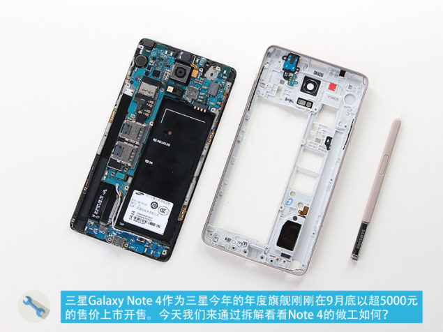 galaxy note 4 camera teardown