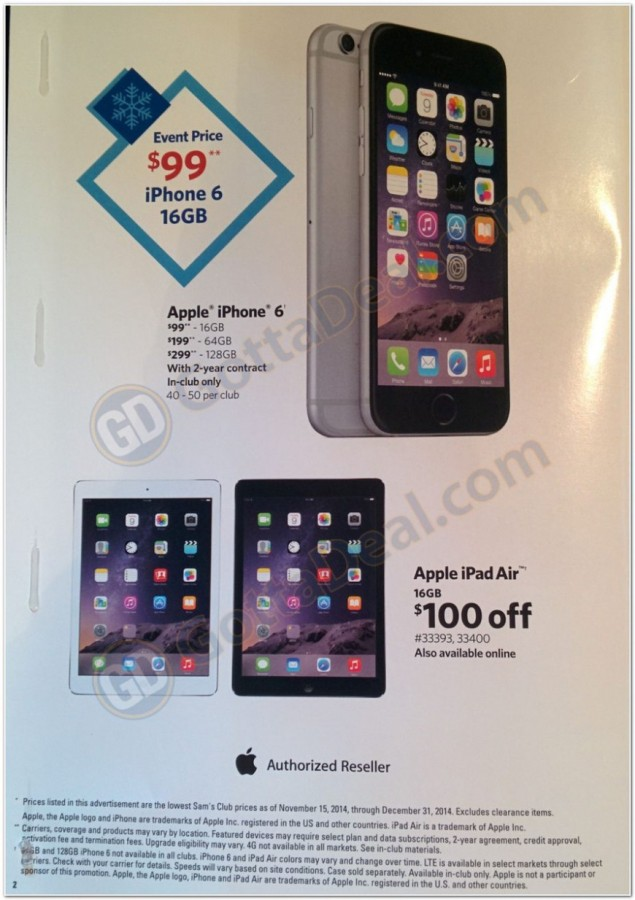 iphone 6 black friday sam's club