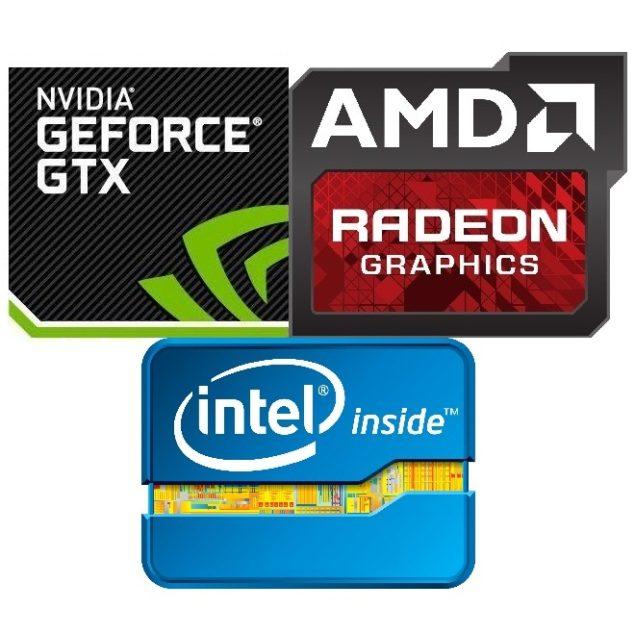 AMD Radeon-Nvidia-GeForce-Intel-Logo