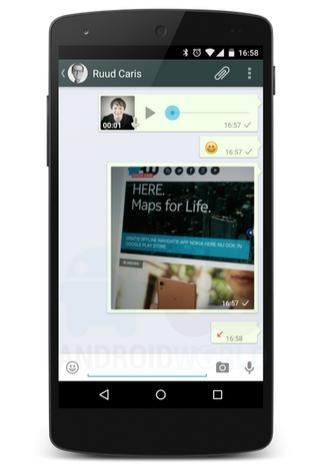 whatsapp voice screenshots