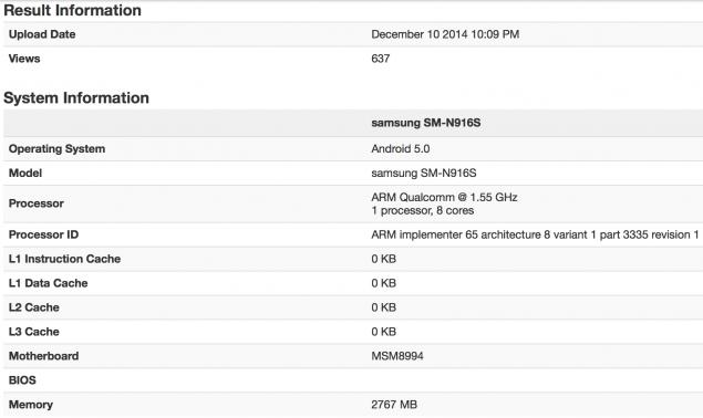snapdragon 810 benchmarks