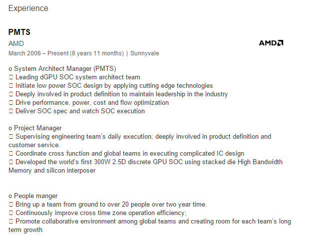 AMD Radeon R9 390X HBM Linkedin