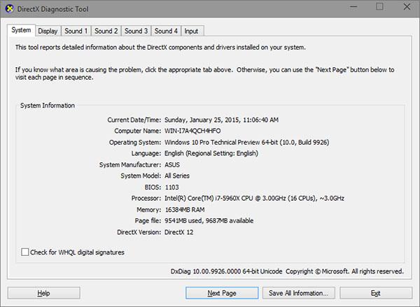 DirectX 12 API Windows 10