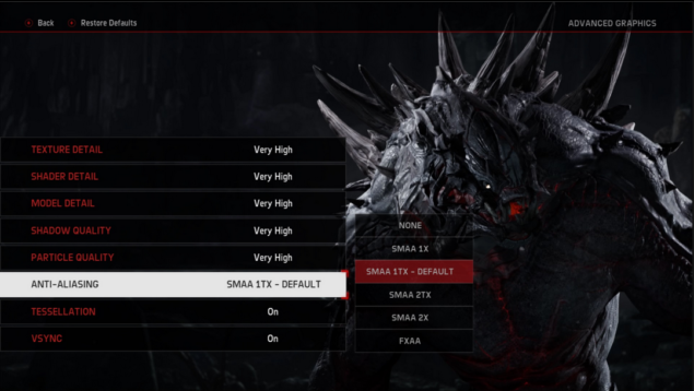 Evolve Graphic Settings
