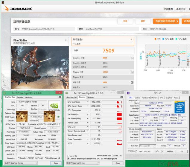 NVIDIA GeForce GTX 960 3DMark Firestrike OC