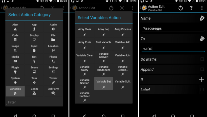 Customize your device for intruder detection using Tasker