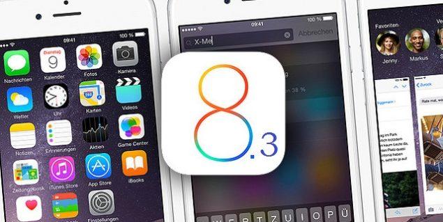 iOS 8.3 view