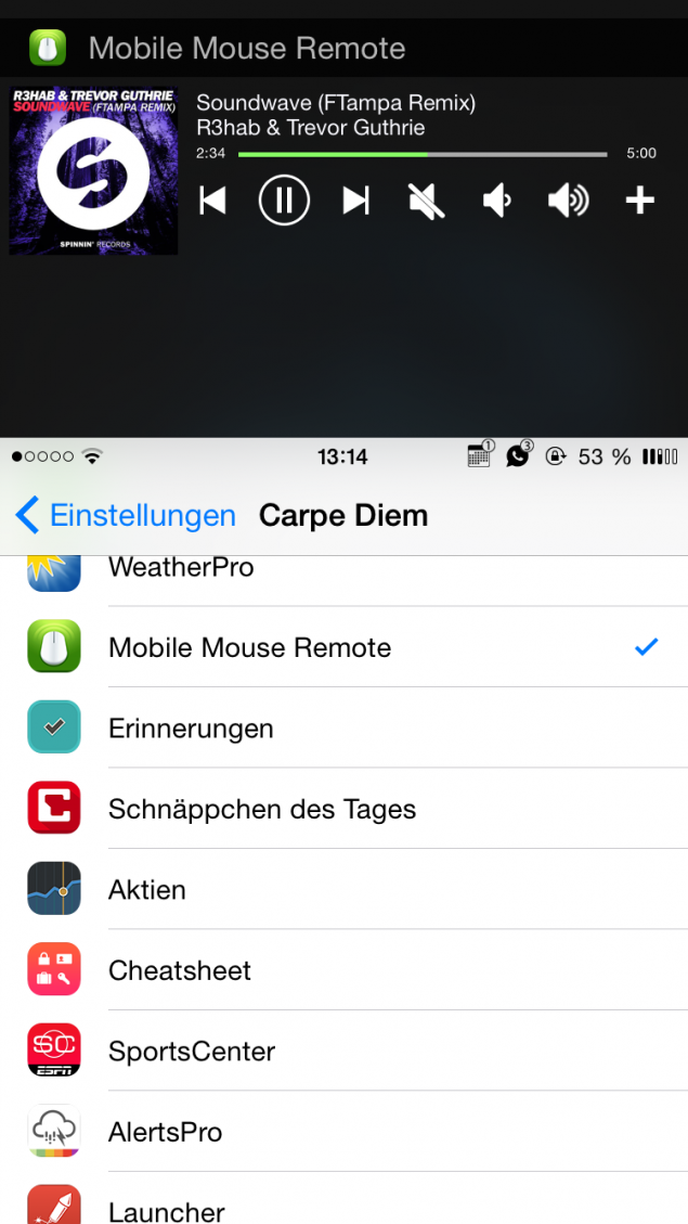 Tweaks for ios8