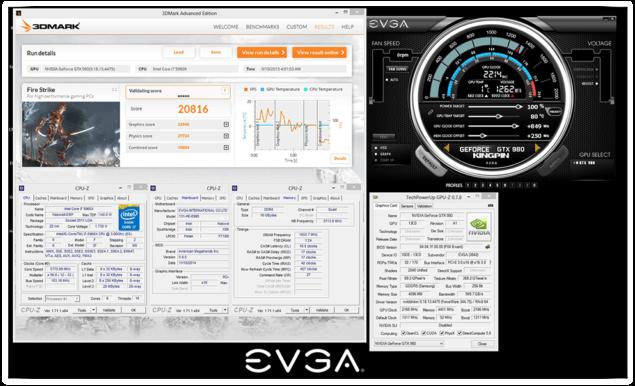 EVGA GeForce GTX 980 KINGPIN ACX 2.0 OC 2.2 GHz