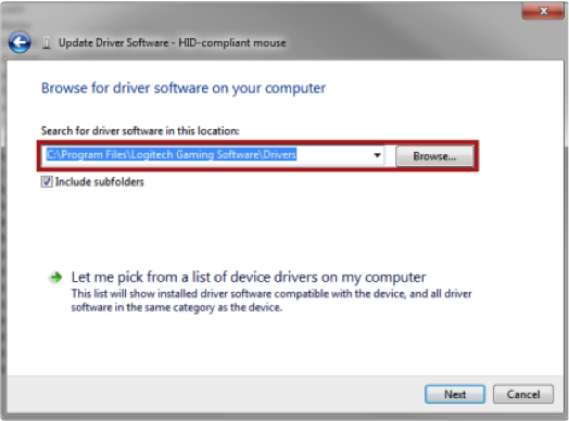 Mouse Driver Installation