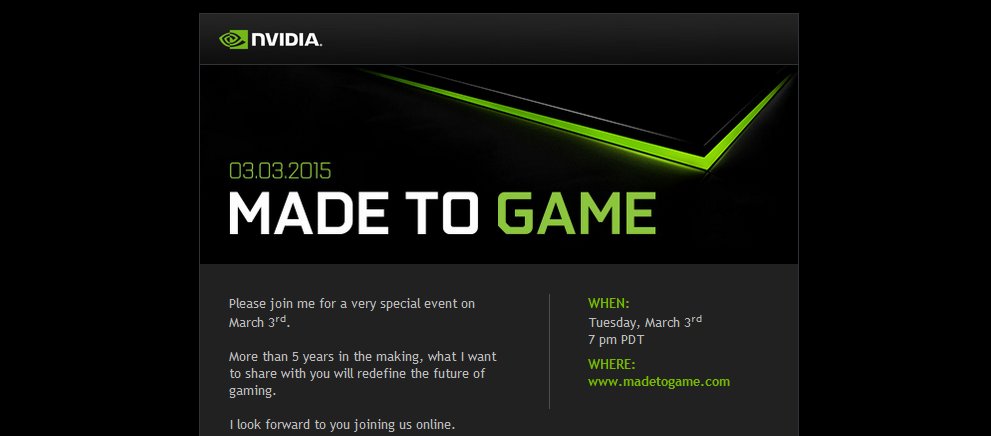 nvidia made to game