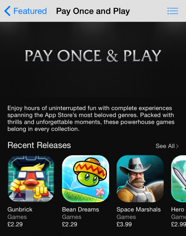 App Store Apple Pay Once & Play
