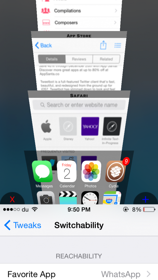 tweaks for ios reachability