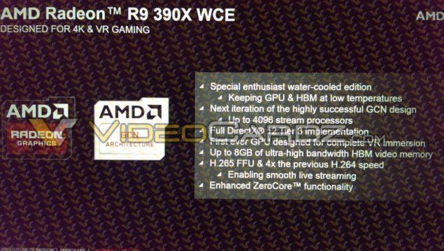 AMD Radeon R9 390X_WCE Edition Details