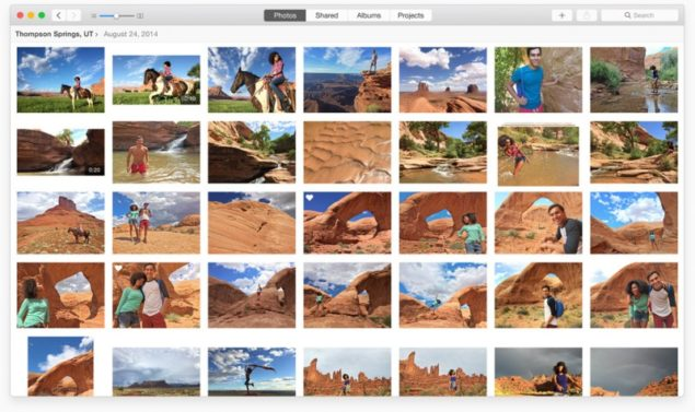 photos app OS X Yosemite 10.10.3