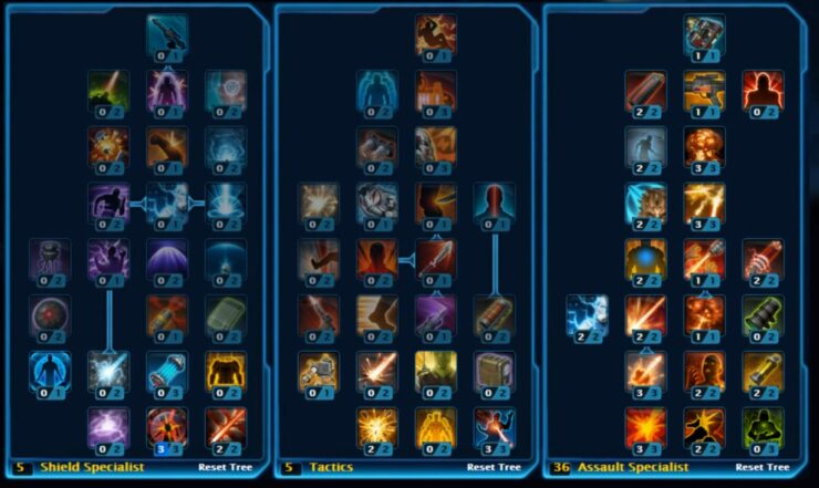 Star Wars The Old Republic Skill Tree