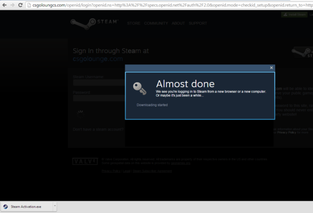 Steam Malware