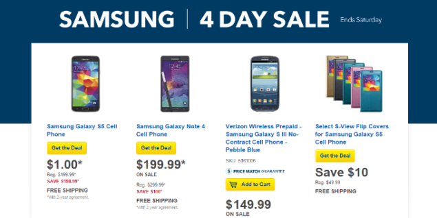 Galaxy S5 discount