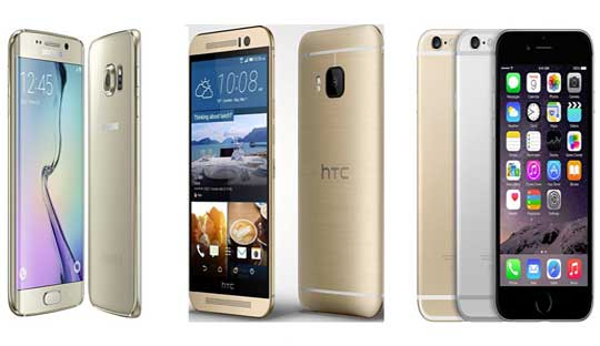 Galaxy S6 vs iPhone 6 vs HTC One M9