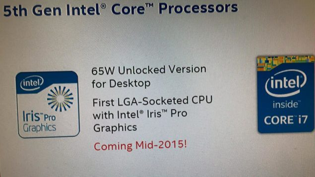 Intel Broadwell Desktop Processors