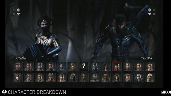 Mortal Kombat X Roster