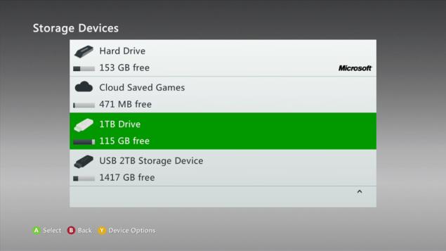 Xbox 360 Storage Update
