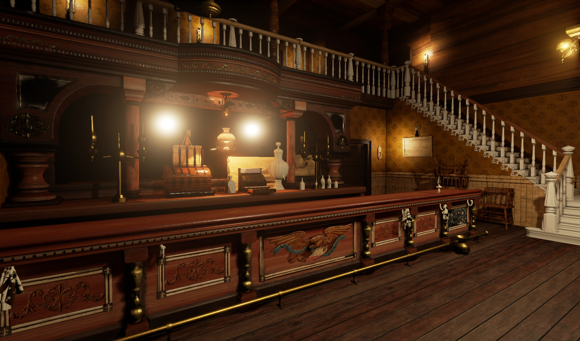Red Dead Redemption Inspired Saloon Created in Unreal Engine 4