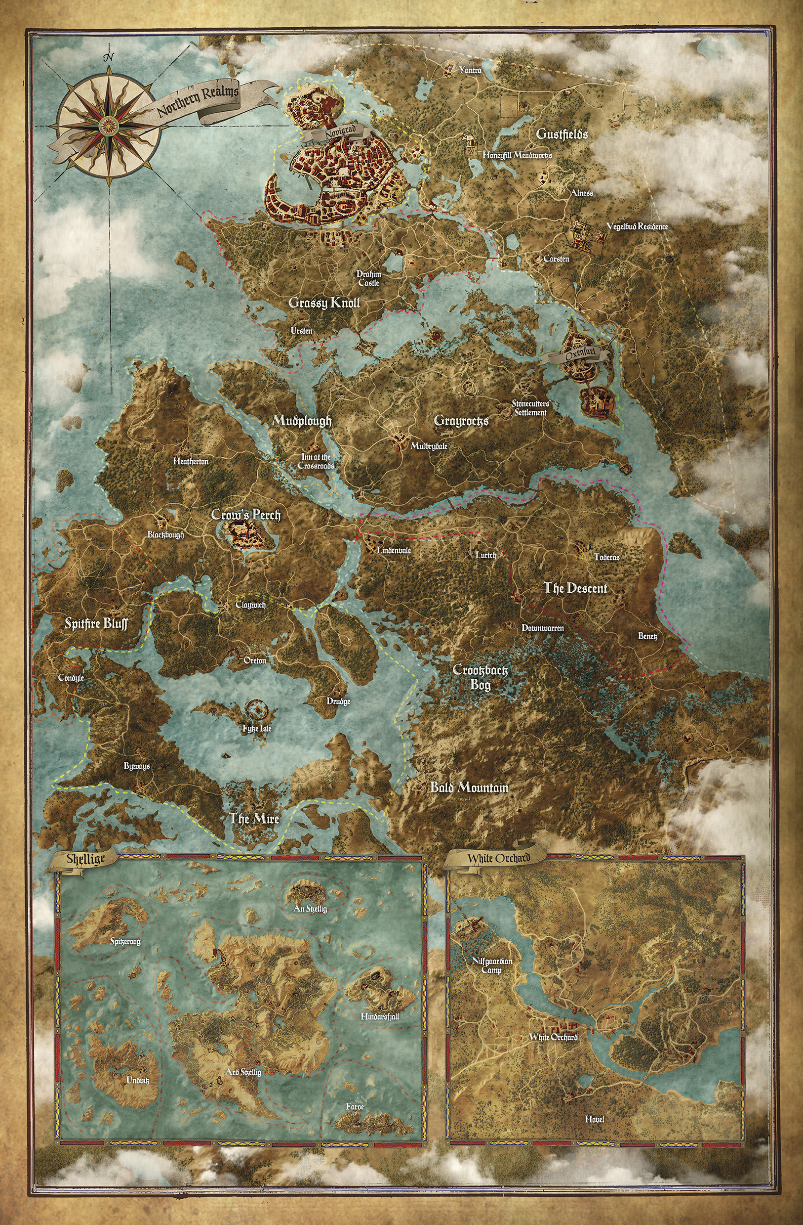 The witcher 3 wild hunt huge full world map revealed witcher map poster bonus gumiabroncs Image collections