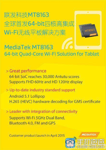MediaTek's MT8163 And MT8735 To Be Incorporated In To Future Tablets
