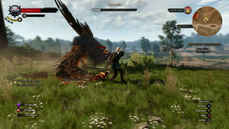 The Witcher 3 More Amazing PC Gameplay Screenshots Griffins Exist
