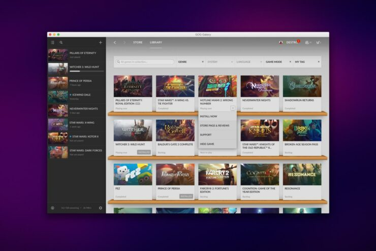 GOG Galaxy, GOG's Own DRM-Free Desktop Game Launcher Hits Open Beta